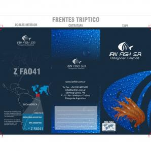 <p>Folleto triptico frente - Ian Fish<p>