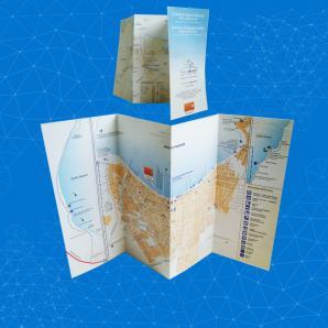 <p>Folleto de cuatro caras - Mapa Turismo Puerto Madryn<p>